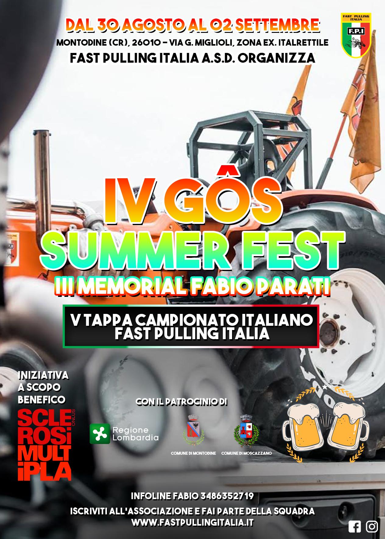 4° GOS Summer Fest - VII FAST Pulling Montodine (CR) / Notturna