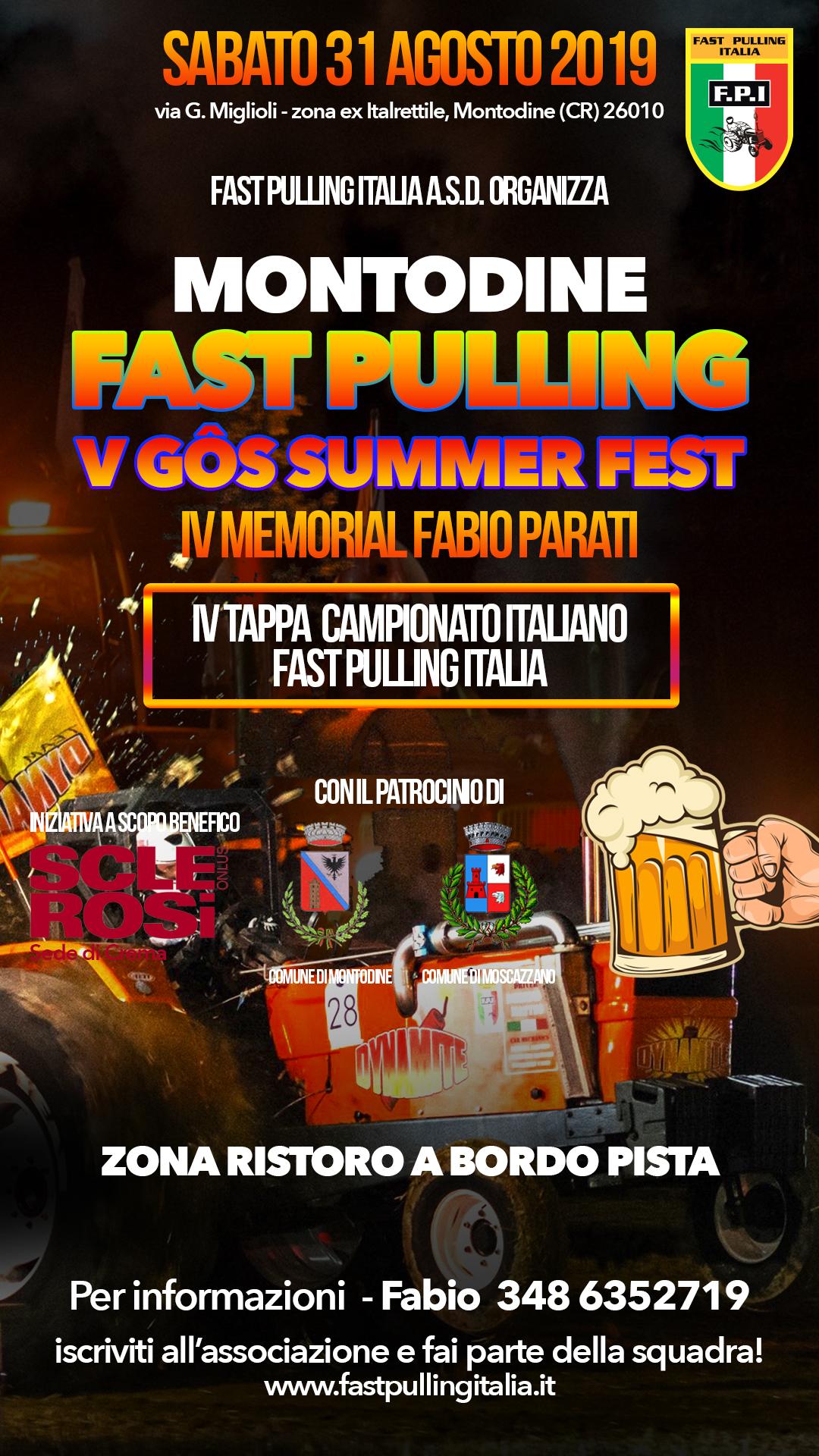 5º Gôs Summer Fest - FAST Pulling Montodine NOTTURNA
